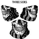 Skull Face Mask Bandana, Motorcycle Face Mask for
