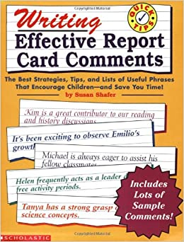 progress book report card comments Having a hard time coming up with appropriate comments for your students' report cards has continued to make steady progress with report card comments.