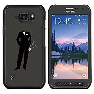 LECELL--Funda protectora / Cubierta / Piel For Samsung Galaxy S6Active Active G890A -- Anonymous Traje --