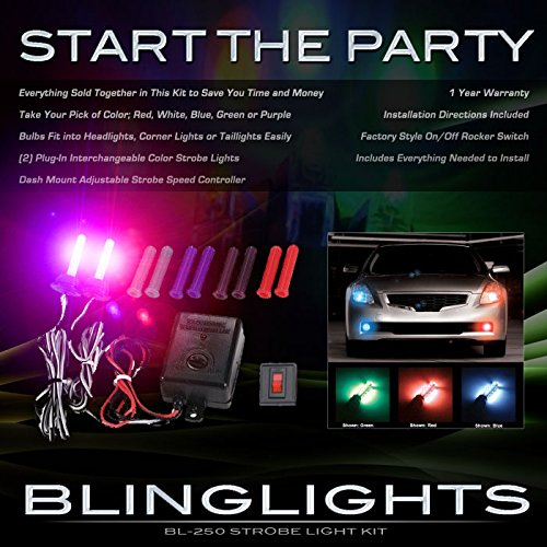 (BlingLights BL250 Multi Color Xenon Strobe Kit with Adjustable)