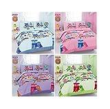 Maria Luxury Bedding & Linen Cot Duvet Cover Set with Pillowcase Owl Duvet Cover Sets, Kids Toddler Baby Children Owl Cot Duvet Cover Set with Pillowcase - 120cm x 150cm (Pink)