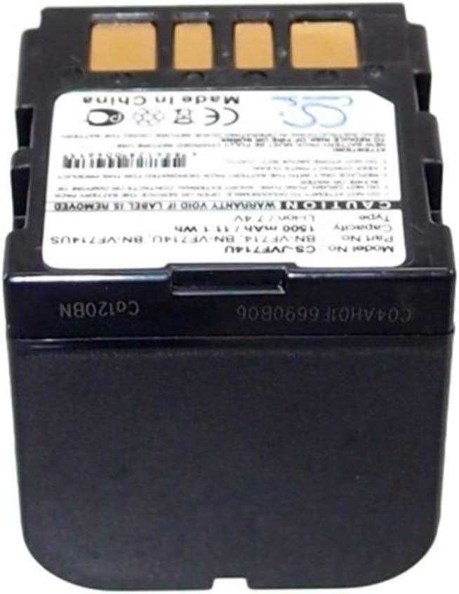 Color : Black, Size : 40.81 x 39.76 x 37.59mm Aiyawear-C Battery Camera 1500mAh//11.10Wh 7.4V Camera Battery for JVC BN-VF714 BN-VF714U BN-VF714US//GR-D240 GR-D246 GR-D247 Photo Battery