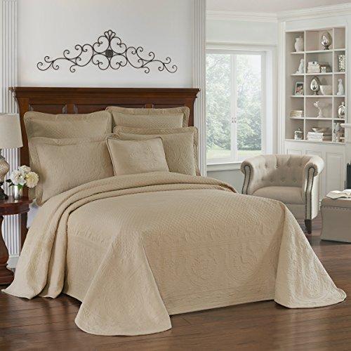 Charleston histórico 13989beddkngbir King Charles 304.8cm por 289.6cm Matelasse colcha para cama de matrimonio, color...