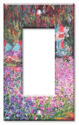 Art Plates - Monet: The Artist's Garden Switch Plate - Single Rocker