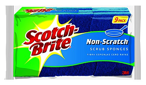 Scotch-Brite Scrub Sponge, Non-scratch, 9-Count (Pack of 2)