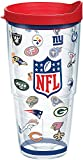 Tervis 1080733 NFL Team Logos Tumbler with Wrap and Red Lid 24oz, Clear