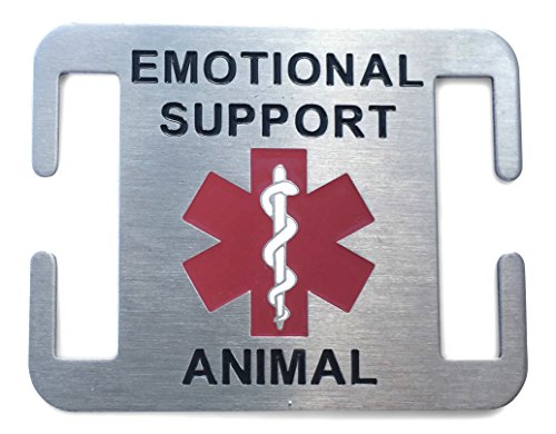Emotional Support Animal Dog Tag for ESA Service Dogs - Attaches to Collar or Harness (3/4 Inch)
