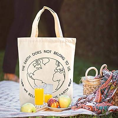 NymphFable 6 Pcs Bolsa Compra Reutilizables Flores de Almendro Bolsas para Comestibles Impermeable Ecol/ógicas Plegables Grande
