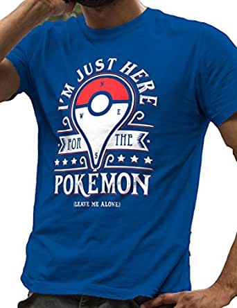 LeRage Shirts I'm Just Here For The Pokemon Go Leave Me Alone Men's Blue Small