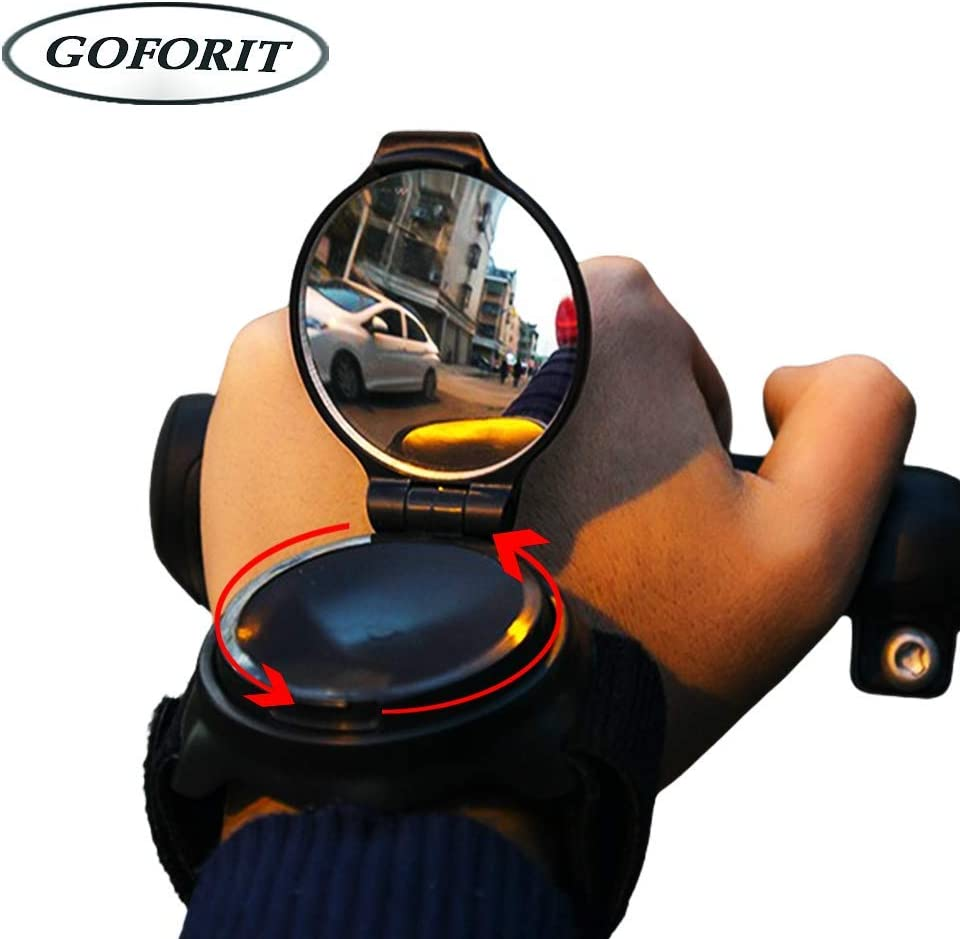 GOFORIT Cycling Wrist Band Rear View Mirror