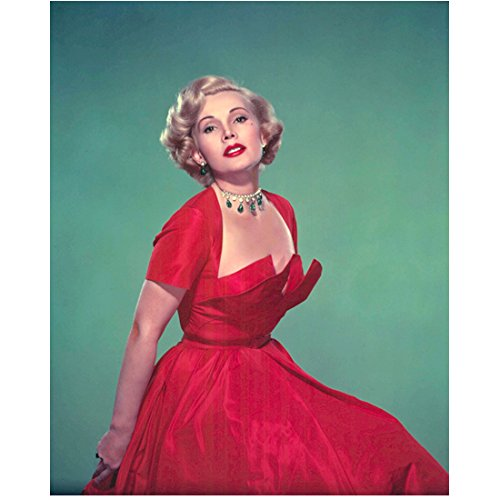 - Zsa Zsa Gabor (8 inch by 10 inch) PHOTOGRAPH Moulin Rouge The Hollywood Squares The People vs. Zsa Zsa Gabor Wearing Red Dress Chin Up Blue Background kn