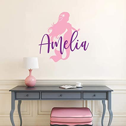 Amazon.com: Little Mermaid Wall Decal Personalized Girls ...