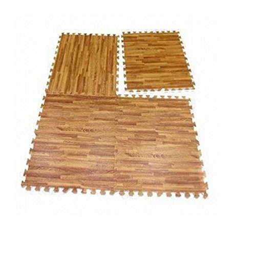 Interlocking Wood Effect Mats Eva Soft Foam Exercise Floor Gym Office Mat Puzzle by unbrand (Image #1)