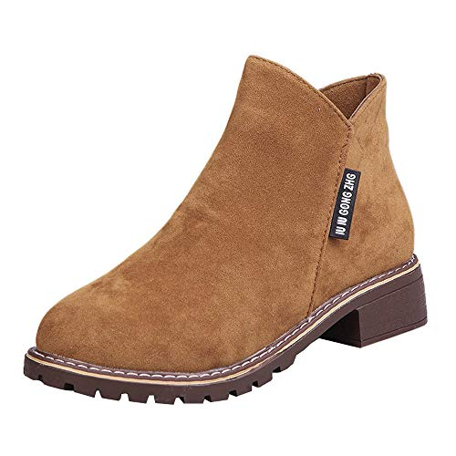 Suede Boots for Women BOOMJIU Solid Color Short Boots Children's Shoes -