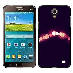 Luces Night City Negro Peach borrosa- Metal de aluminio y de plástico duro Caja del teléfono - Negro - Samsung Galaxy Mega 2