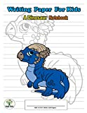 Writing Paper For Kids. A Dinosaur Notebook: Handwriting Practice Paper with Dotted Lined , ABC Kids. A Dinosaur Cover design Pachycephalosaurus.