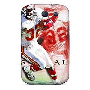Protective Hard Cell-phone Case For Samsung Galaxy S3 With Custom Colorful Kansas City Chiefs Pattern KellyLast