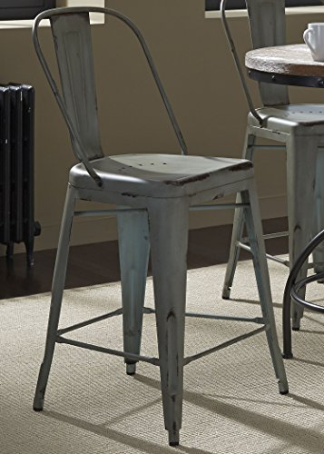 Liberty Furniture Industries 179-B350524-G Vintage Dining Series Bow Back Counter Chair, Green -