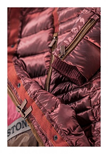 946a08ed1638 ... Milestone Damen Daunenjacke Steppjacke Winter Jacke Tina Rosa Pink Gelb  Braun Taupe Bordeaux Rot Kapuze Pelz