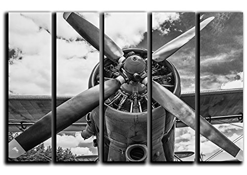 Airplane Wall Art Decor Airplane Picture Airplane Painting on 5 Cotton Canvas