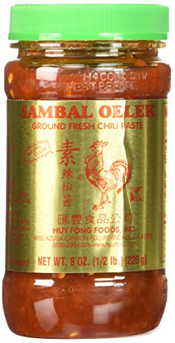 Huy Fong Sambal Oelek Chili Paste, 8 oz, 3 pk