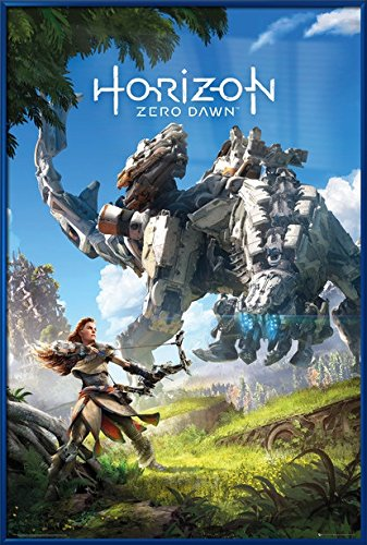 Horizon: Zero Dawn - Framed Gaming Poster / Print (Gam Cover / Key Art) (Size: 24