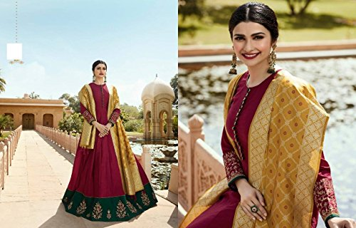 Abito da Anarkali donna desai Vestito abito nuovo sposa cerimonia indiano abito musulmano per lungo hijab Abito da Salwar Kameez festa Prachi misura Abito Abito Abito cerimonia 2779 da su da 15Tw8q8