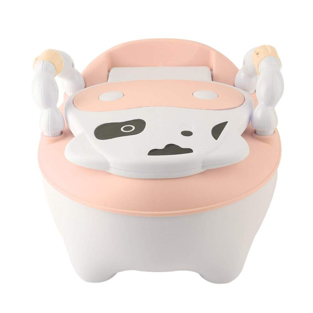 Enfants Bébé Potty Seat Avec Ladder Enfants Pliage Potty Chaise Formation Portable et Durable (Rose) QIANGUANG