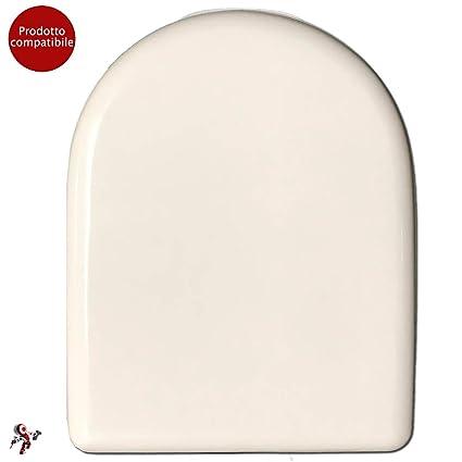 Ceramica Dolomite Serie Alpina.Copriwater Coprivaso Tavoletta Sedile Wc Per Vaso Dolomite Alpina Quadrarco Bianco