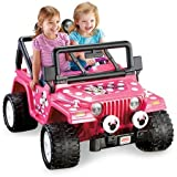 Power Wheels Riding Toys Best Deals - Fisher-Price Power Wheels Disney Minnie Mouse Jeep 12-Volt Battery-Powered Ride-On / Pretty pink exterior Sweet Minnie Mouse graphics Steering wheel