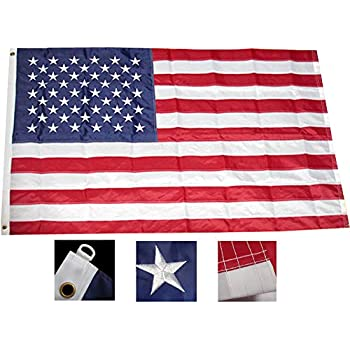 Nylon American Flag (6' x 10') This Nylon American Flag with Embroidered Stars & Sewn Stripes is made of heavy duty, commercial grade Denier Dupont.