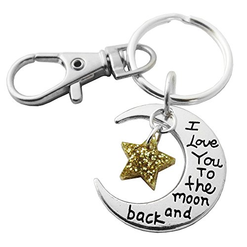 Love You to the Moon and Back Metal Keychain by Sparkle (Image #1)