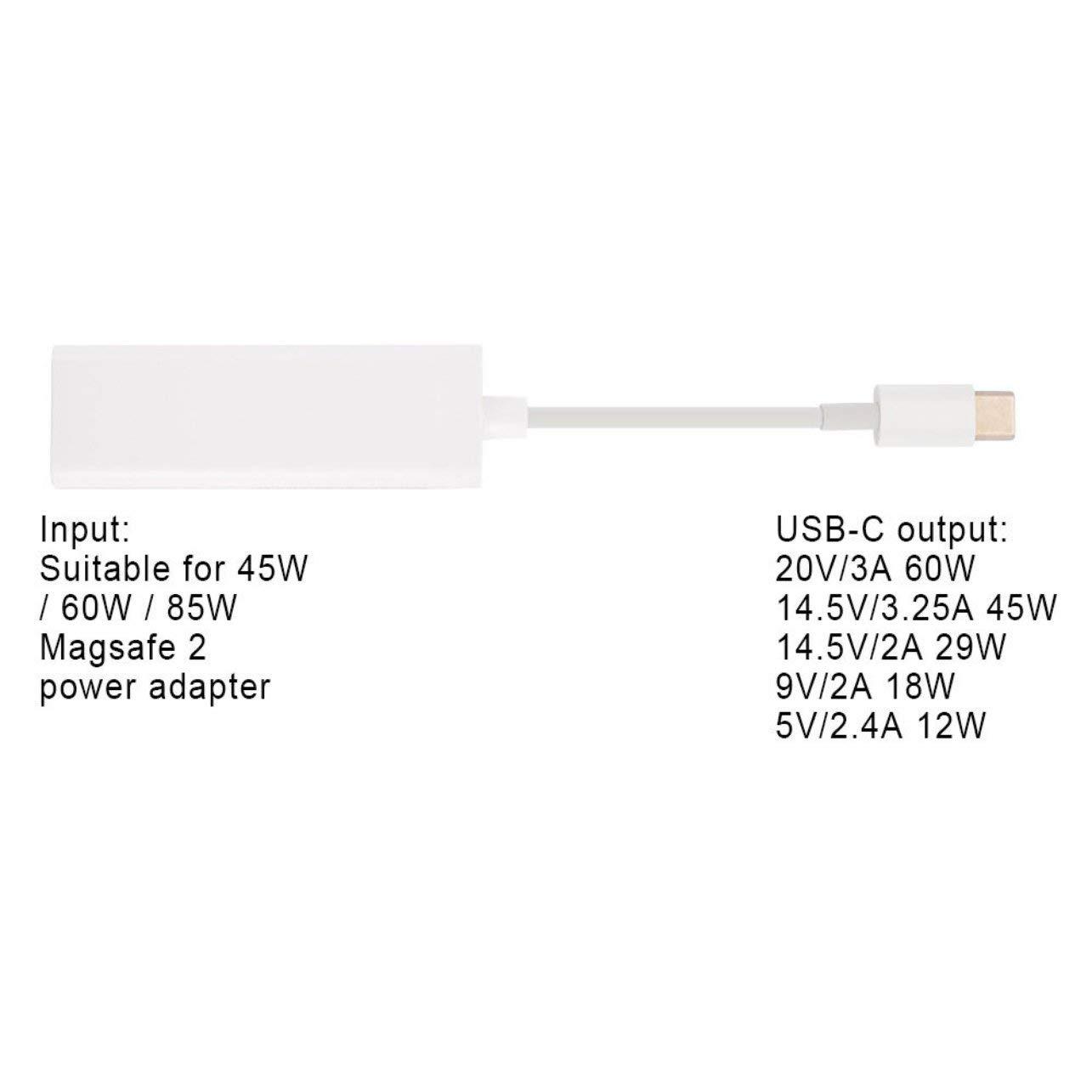 WOSOSYEYO Exquisitamente dise/ñado Elecjet Anywatt 2.0 USB C Adaptador Magsafe Tipo C a Magsafe 1 y 2 Adaptador convertidor de Carga