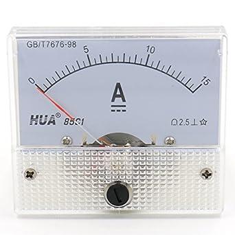 Heschen 85C1-5V Rectangle Panel Mounted Voltage Meter Voltmeter Tester DC 0-5V Class 2.5 White