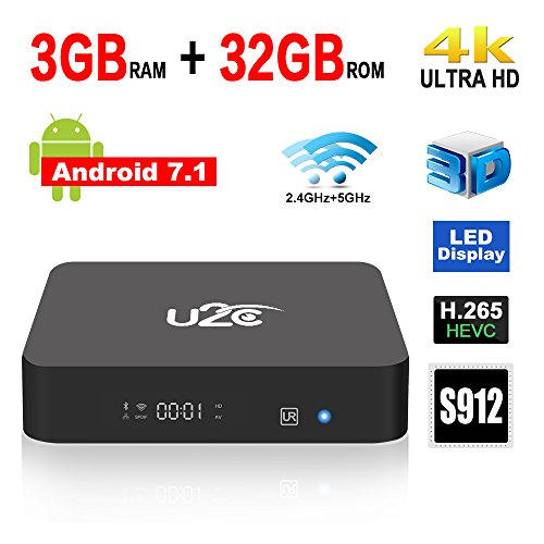 2017 Model Android 7.1 TV Box Z Super 3GB RAM 32GB ROM Amlogic S912 64 Bits Octa Core Smart TV Box Support 4K 3D Dual Band WiFi 2.4GHz/5GHz