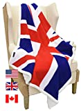 """Catalonia Sherpa Fleece Blanket,UK England National Flag Print Patriotic Plush Super Soft Warm Reversible Polar Throws for Couch Bed 60"""" x 50"""""""