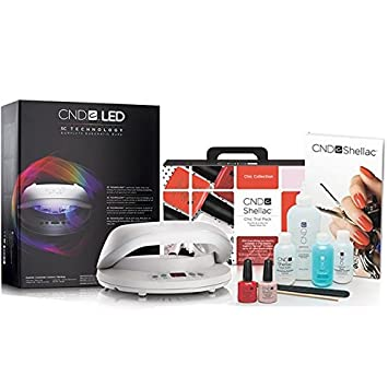 CND Shellac Chic Collection Starter Pack + CND Shellac Brisa LED 3C  Technology Professional Lamp (