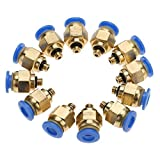 Air Pipe Pneumatic Connector Fittings Quick Male Thread Straight Push in Connector(PC4-M5 20pcs)