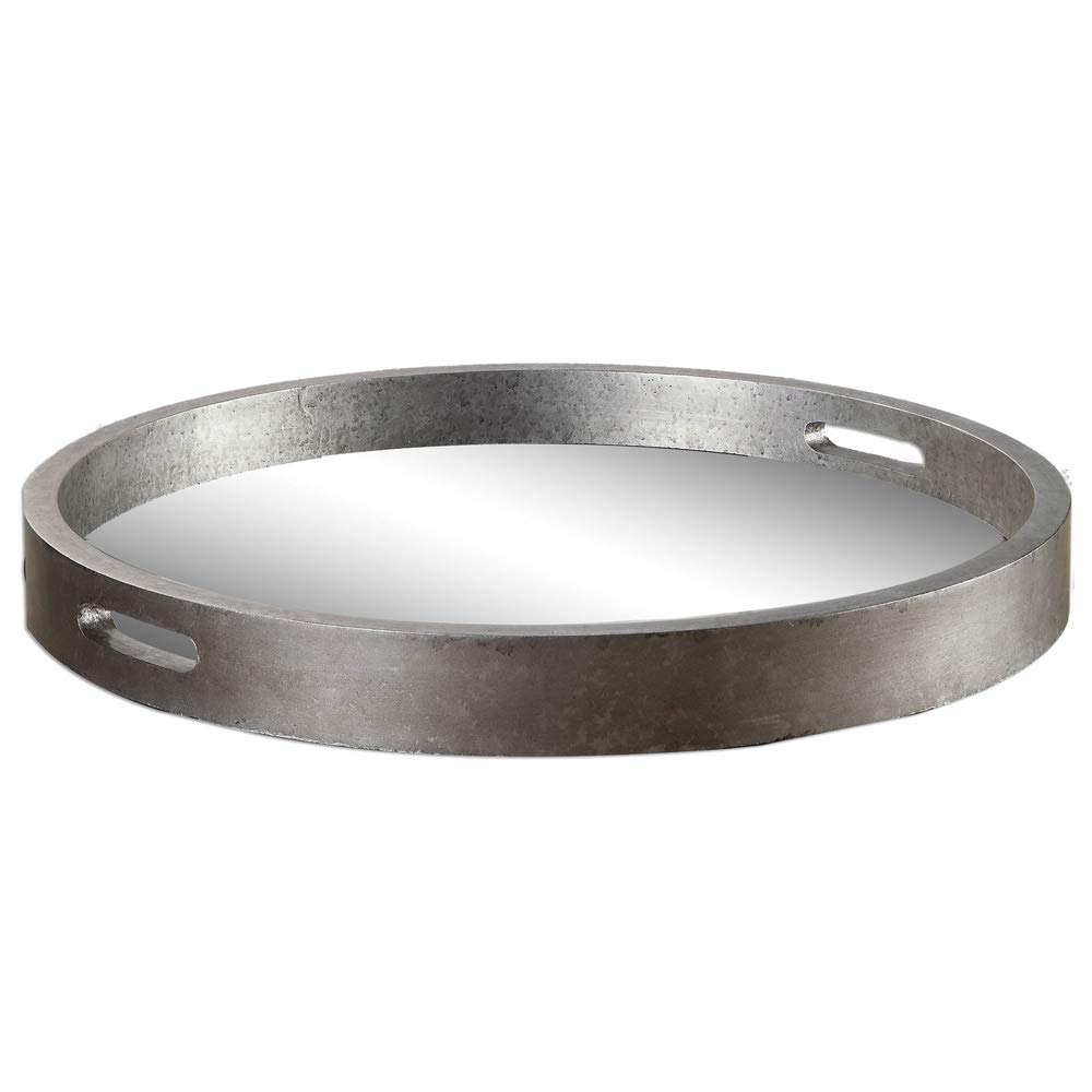 Uttermost Bechet Round Silver Tray by Uttermost (Image #1)