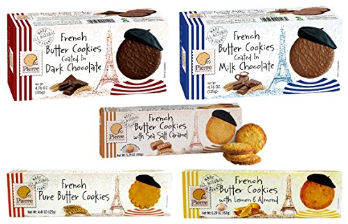 French Food - Pierre Biscuiterie French Butter Cookies Variety 5 Pack