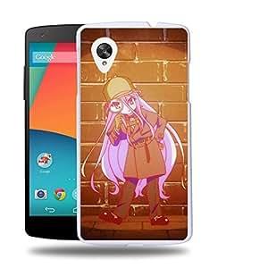 Case88 Designs No Game No Life Sora Shiro Jibril Izuna Hatsuse Stephanie Dola Kurami Zell Protective Snap-on Hard Back Case Cover for LG Nexus 5 by supermalls
