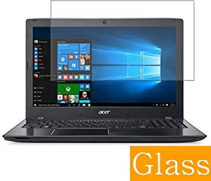 """Synvy Tempered Glass Screen Protector for Acer Aspire E5-575 / E5-575G / E5-575T / E5-575TG 15.6"""" Visible Area 9H Protective Screen Film Protectors (Not Full Coverage)"""