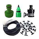 KitsPro Outdoor Misting Cooling System Kit 49FT (15M) Misting Line for Patio Garden, Greenhouse, Trampoline & Waterpark