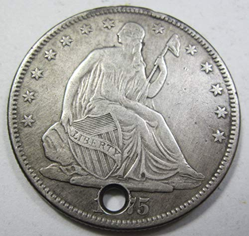 1875 Seated Liberty Half Dollar Extremely Fine