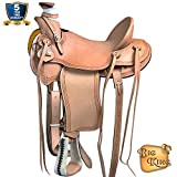 HILASON 15 16 17 in Western Horse Wade Saddle Leather Ranch Roping Tan