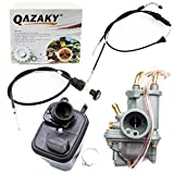 QAZAKY Carburetor Throttle Cable Choke Cable Air Filter Box Assembly Replacement for Yamaha Y-Zinger PW 50 Peewee PW50 Gtmotor G50T Loncin PY50 LX50PY Jianshe PY50 Yzinger