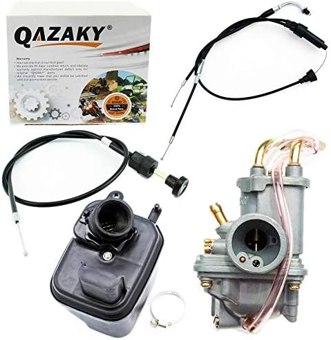 QAZAKY Carburetor Air Filter Box Assembly Compatible for Yamaha Y-Zinger PW50 PW 50 Peewee Gtmotor G50T Loncin PY50 LX50PY Jianshe PY50 Yzinger