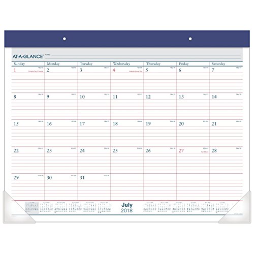 AT-A-GLANCE 2018-2019 Academic Year Desk Pad Calendar, Standard, 22 x 17, Two Color (AYST2417) (Desk A-glance)