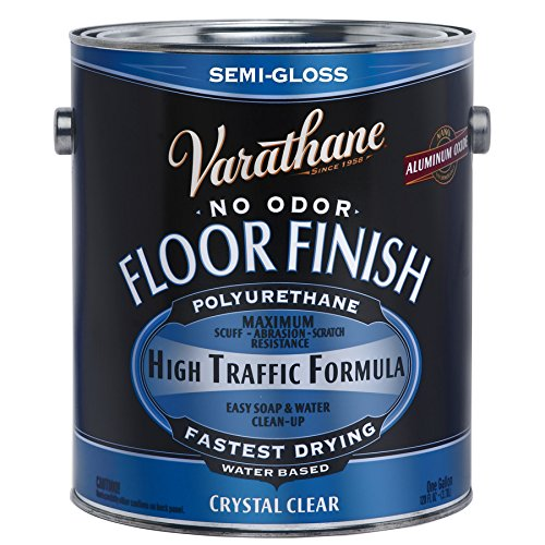 1-gal. Clear Semi-Gloss Water-Based Floor Polyurethane (2-Pack) ()
