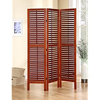 Amazoncom Legacy Decor 3 Panel Solid Wood Screen Room Divider with